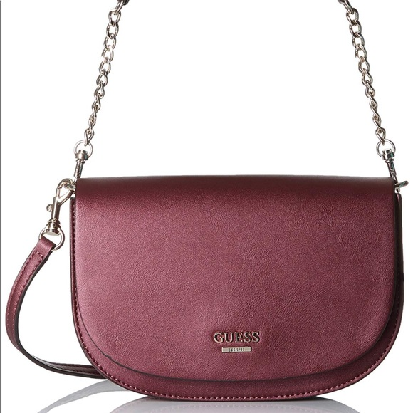Guess Handbags - Guess Devyn Crossbody Handbag Bordeaux e7b85d21381be